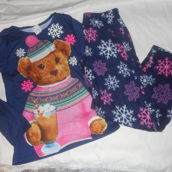 Justice Other - Justice Teddy Bear Pajama Set NWT